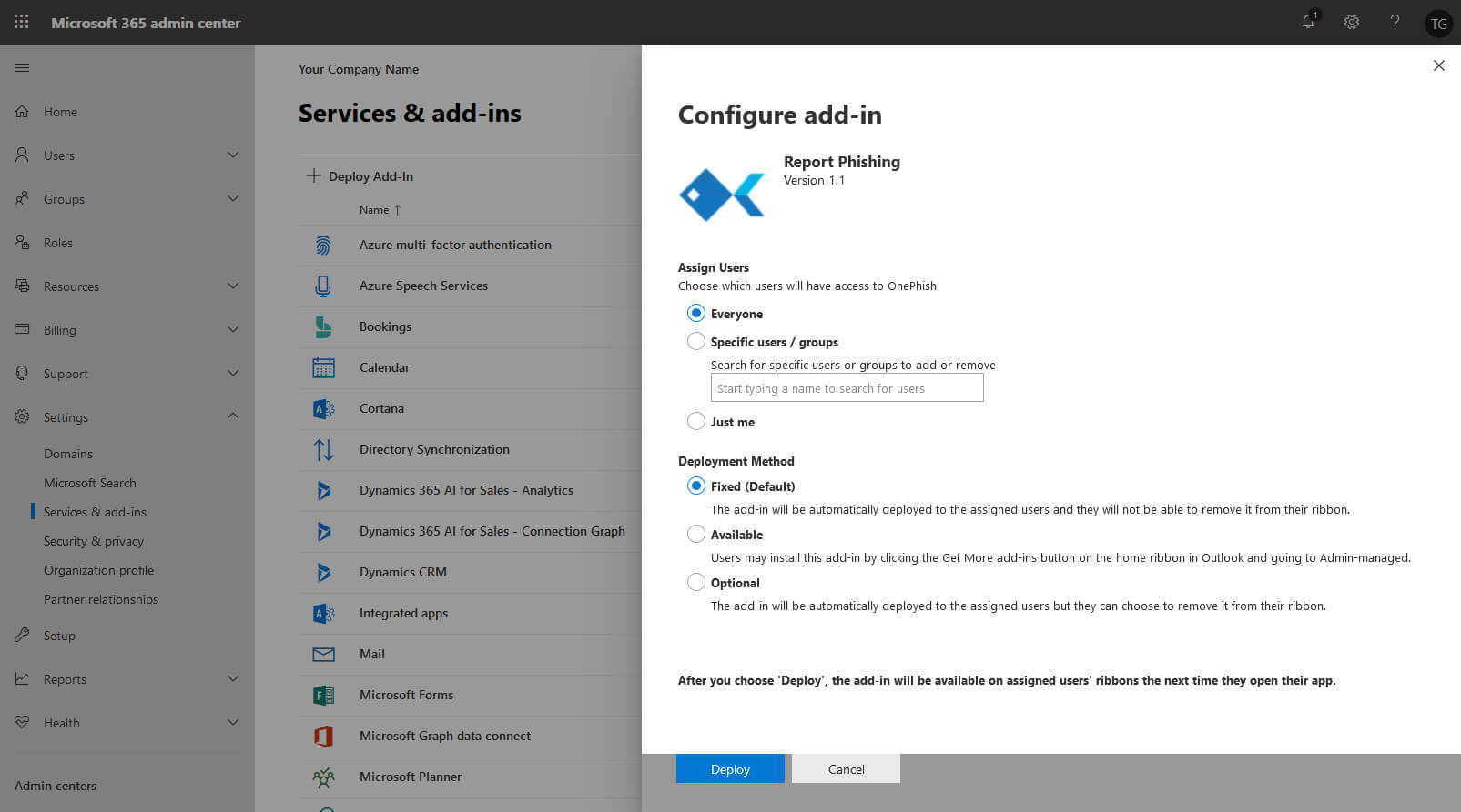 Edit who has access page in Office 365 admin center